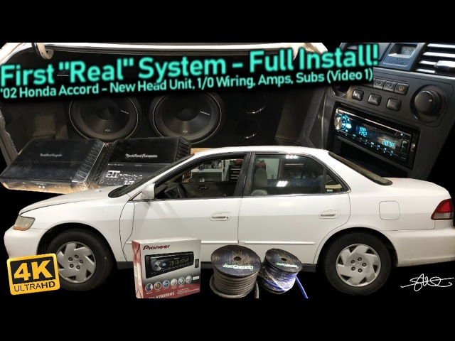 First Real Sound System - Full Install! New Head unit, 1/0 Big 3 Wiring, Amps, Subs (Video 1)
