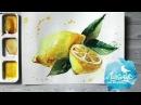 Как нарисовать лимон акварелью. 365 арт дней. День 9