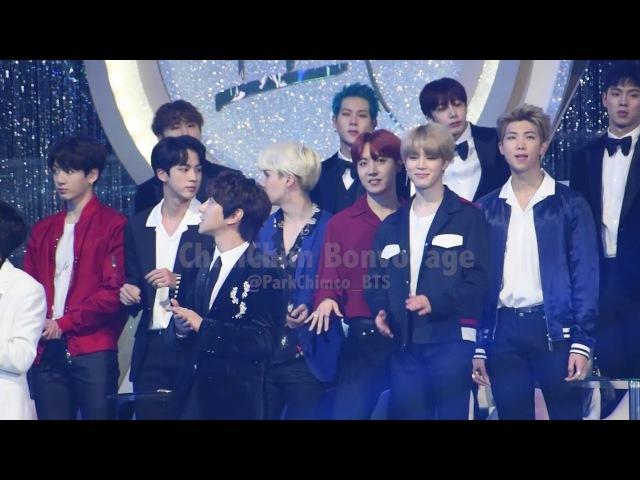20180111 GDA BTS DANCING CUTE MOMENT♡JIMIN J-HOPE 골든디스크 방탄소년단 지민 제이홉