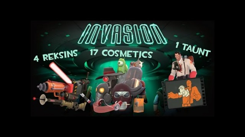 TF2: Invasion Update! (4 New Reskins, 17 Cosmetics and 1 Taunt)
