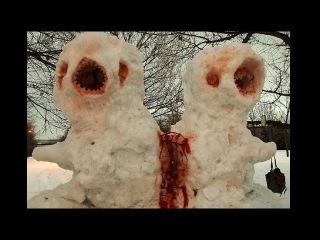 Лютые снеговики. СНЕГОВИК-КРИПОВИК. Смешные и страшные снеговики.