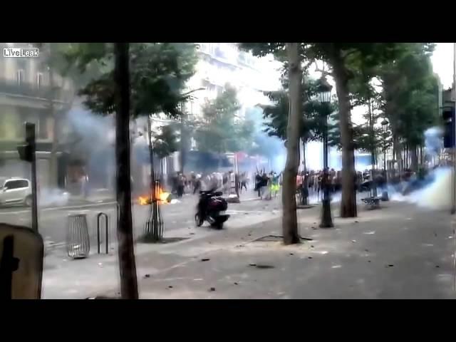 Islamische Invasoren randalieren brutal in Paris