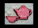 Имбирные пряники Чайная пара. Роспись пряников, имбирного печенья глазурью (айсингом)