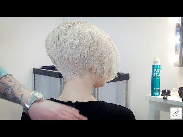 Объемная укладка (прическа) на короткие волосы - МАСТЕР-КЛАСС ДЛЯ ПАРИКМАХЕРОВ укладка волос феном.