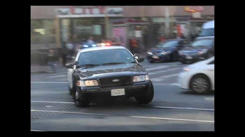 [CROWN VIC V8-Power!] San Francisco Police Department responding urgently