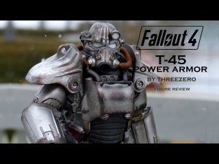Fallout 4 T-45 power armor figure by Threezero Review & Unboxing
