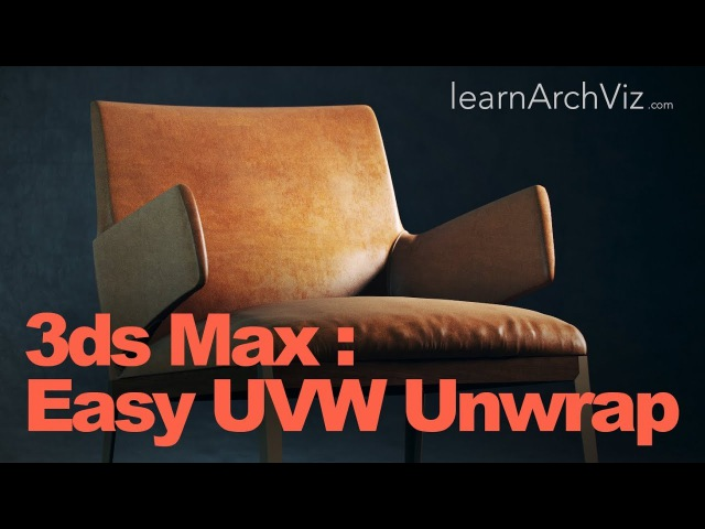 3ds Max Texturing Tutorial UVW Unwrapping The Easy Way