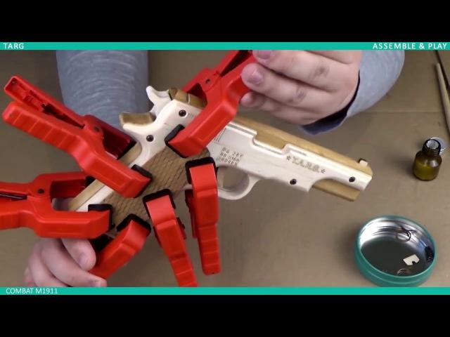 Инструкция по сборке пистолета из дерева COMBAT M1911 (Colt M1911) от T.A.R.G.