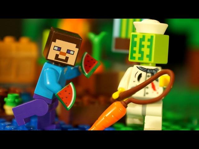 Майнкрафт ФЕРМА для ЛЕГО НУБика Мультики LEGO Minecraft Видео Мультфильмы для Детей