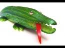 Comment Faire un Crocodile en Concombre (HD)