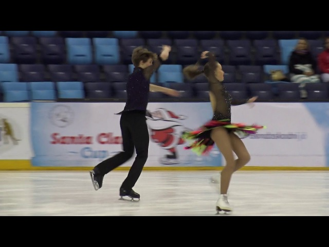 2017 Santa Claus Cup :Nika DAYNEKO-Leonid OKIN(RUS)-ID JUNIOR SHORT DANCE