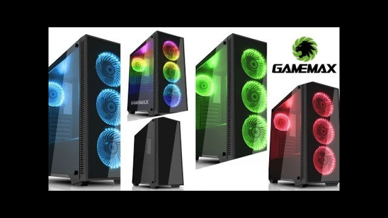 GameMax Draco RGB Tempered Glass PC case my new build