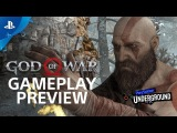 God of War 15 Minutes of Gameplay - PS4 Gameplay Walkthrough PS Underground