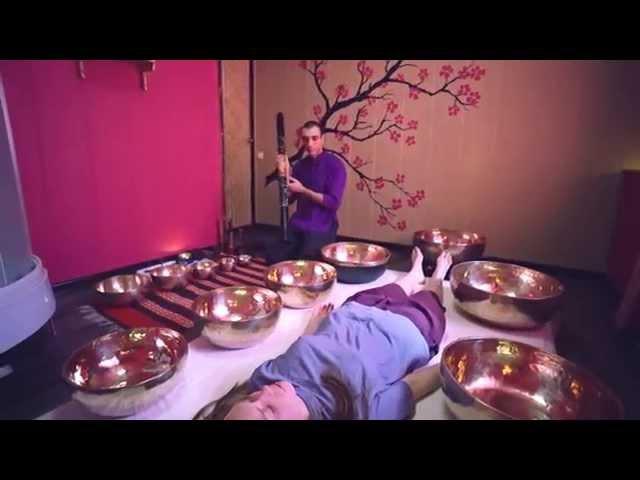 Виброакустический массаж тибетскими поющими чашами