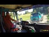 TATRA 815-2 transport gravel - truck cab view