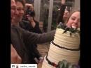 Игорь Верник окунул Аглаю Тарасову лицом в именинный торт