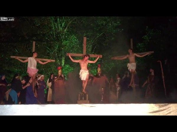 Must see, man saves Jesus Christ