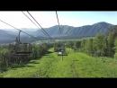 Канатно-кресельный подъемник. Подъем на гору Малая Синюха 1012 метров над уровнем моря. Часть 3