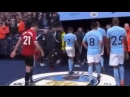 Ander Herrera spits on the Manchester City badge as he walks off the pitch. Love Ander 😂 mufc