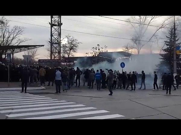 Динамовские ультросы в Мариуполе