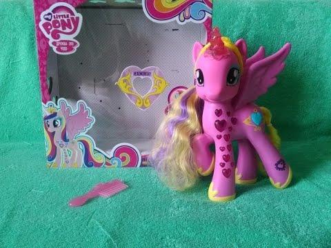 Обзор игрушки My Little Pony светящейся Принцессы Каденс