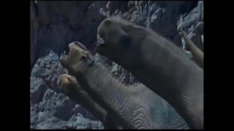 Карнотавр против игуанодонов