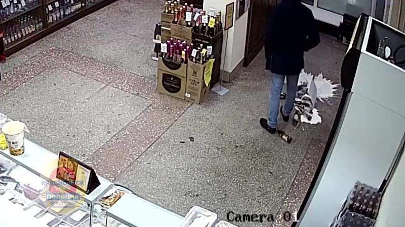 Красноярские горе-грабители разбили пиво