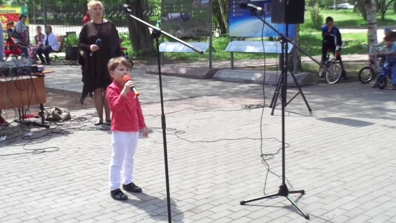 2 июня - фрагмент мероприятия, посвященного Дню защиты детей.