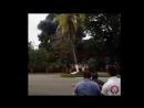 Момент взрыва Boeing 737 Куба