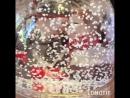 Шар водяной с хлопьями в виде снежинок