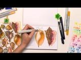 Speed painting из видео урока рисования маркерами