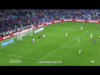 Барселона 2:1 Севилья | Дубль Алькасера