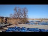 Размыло трассу Р158 в с. Сторожевка Татищевского р-на Саратовской области