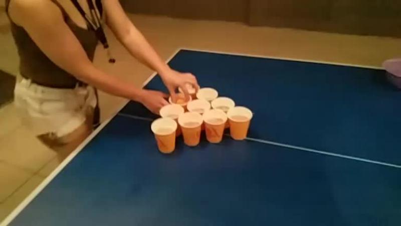 Beer pong final