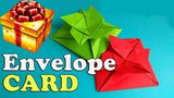Flower Envelope Card Step By Step Tutorial For Birthday. How To Fold Origami Card For Mothers Day