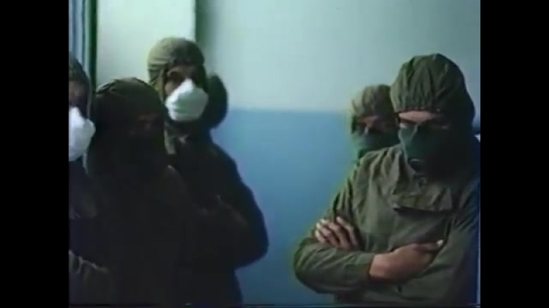 Подготовка и выход солдат на кровлю ЧАЭС