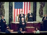ЕБН сволочь отчитывается  Ельцин в Конгрессе США Господи, благослови Америку! (1992)