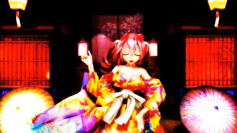 【MMD 4K】吉原ラメント Tda式改変 重音テトJapanese Kimono
