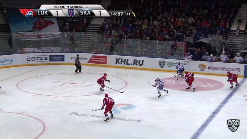 Моменты из матчей КХЛ сезона 17/18 • Гол. 1:2. Александр Барабанов (СКА) принёс питерцам третью победу в серии 27.03