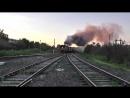 TOO MUCH SMOKE! Diesel locomotive 3TE10U-0070 with freight train