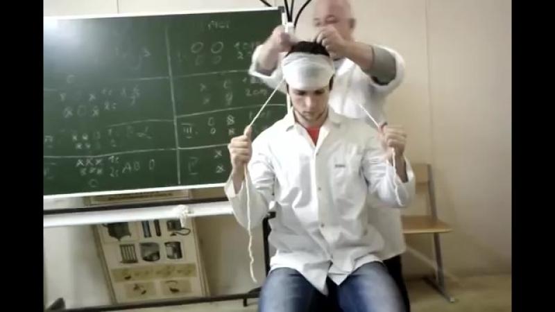 (6) повязка чепец - YouTube