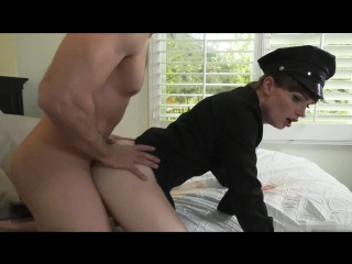 Natalie mars police cop shemale trans transsexual ts ladyboy t-girl трансик в полицейской форме униформа