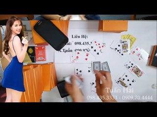 MÁY ĐÁNH BÀI mã vạch bằng chiếc VÍ Soi Camera đánh Binh 6 Lá, Cào tuyệt vời đồ chơi bài bịp mới nhất