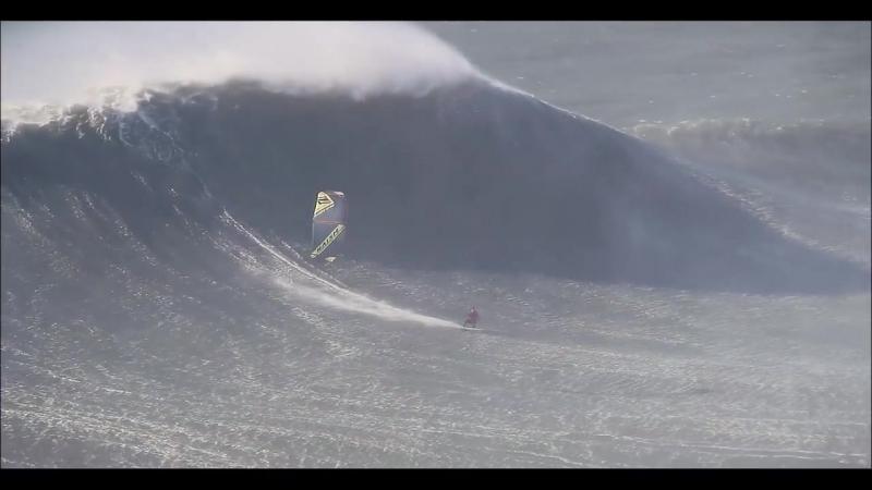 Джесси Ричман про райдер Naish Kiteboarding покоряет волны Назаре в Португалии🏄 - спот который попал в книгу рекордов Гинесса😃