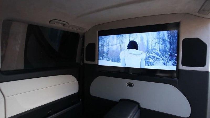 """Cargi Interior Tuning on Instagram: """"Офис на колёсах на базе Mercedes V-class 💥 Установили перегородку с телевизором, комфортные сиденья от Lexus L..."""