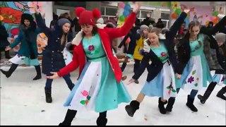 Народный праздник Наурыз мейрамы-2018 в Казахстане - село Железнодорожное Карасуский район