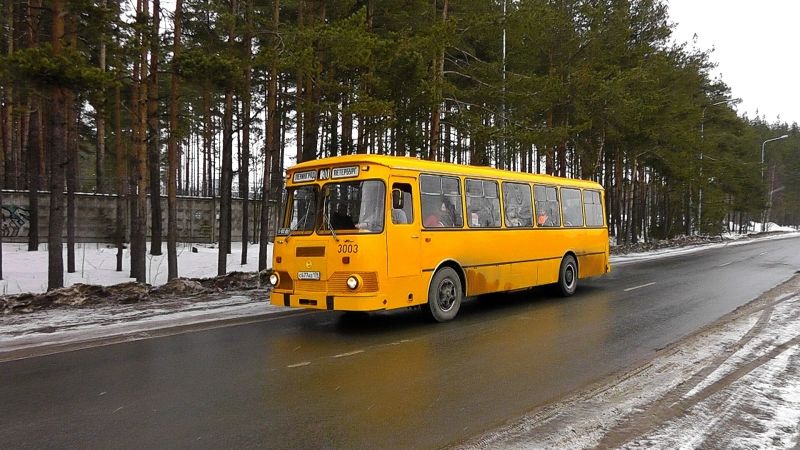 Санкт-Петербург. Автобус ЛиАЗ-677М. 10.03.2018г.