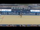 Полина Хонина обруч контрольная тренировка World Challenge Cup 2017 Казань