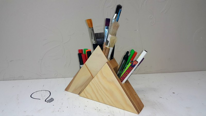 How to Make a Pyramid Shaped Pencil Holder