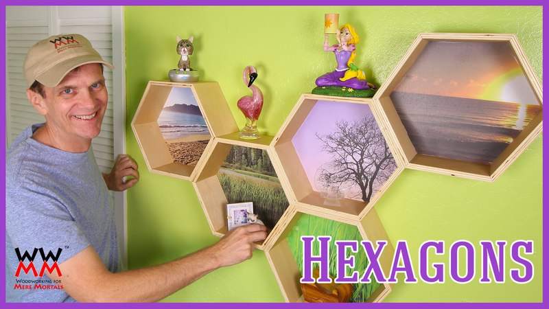 Funky Hexagon Honeycomb Wall Shelves | WWMM ART DESIGN